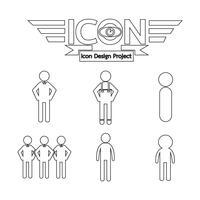 Segno di simbolo dell'icona di persone