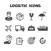 simbolo di icone logistiche vettore