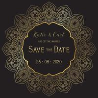 Salva lo sfondo della data con un elegante design a mandala