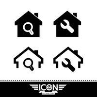 Segno di simbolo dell'icona di casa vettore