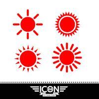 segno di simbolo dell'icona del sole vettore