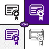 Segno simbolo icona certificato vettore