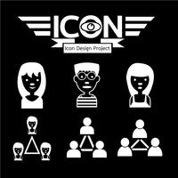 persone simbolo icona segno vettore