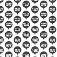 Pattern background Sei qui icona vettore