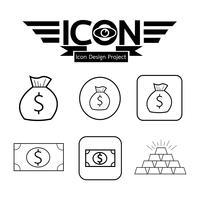 Segno simbolo icona denaro