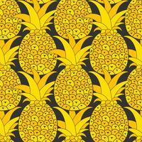 Modello senza cuciture di ananas. Sfondo tropicale Illustrazione vettoriale Pronto per il tuo disegno, cartolina d'auguri