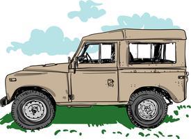 Illustrazione di vettore del fuoristrada