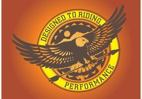 grafica del logo eagle vettore