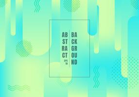 Linee astratte forme arrotondate transizione geometrica vibrante colore verde e blu colori sfumati su sfondo luminoso. Forme dinamiche composizione alla moda. vettore