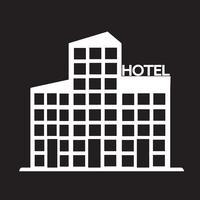segno di simbolo dell'icona dell'hotel