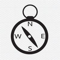 segno icona simbolo della bussola vettore