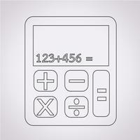 segno di simbolo dell'icona del calcolatore