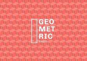 I poligoni di colore di corallo astratti 3D modellano il fondo e la struttura. I triangoli geometrici formano il colore rosa. È possibile utilizzare per il modello di copertina, libro, sito Web, banner, pubblicità, poster, ecc. vettore