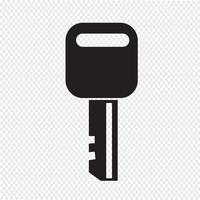 Icona chiave segno simbolo vettore