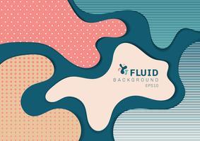 Il web design dinamico astratto dell'insegna di stile 3D da forme fluide con il concetto moderno del modello. È possibile utilizzare per poster, web, pagina di destinazione, copertina, annuncio, biglietto di auguri, promozione, brochure, ecc.