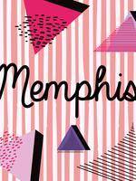 Design colorato di sfondo Memphis vettore