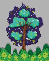 Albero nella foresta vettore