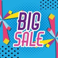 Grande vendita shopping poster stile memphis