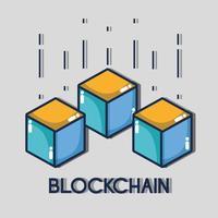 cubetti di blockchain tecnologia di sicurezza digitale