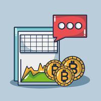 tecnologia di sicurezza del denaro digitale bitcoin vettore