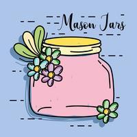 conserve in stile rustico mason jar vettore