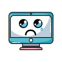 kawaii carino monitor schermo piangente