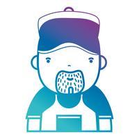 silhouette uomo idraulico lavoro a servizio di riparazione