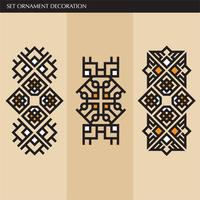 Lusso giapponese, calligrafico, linee eleganti ornamento azteco per etichetta vettore
