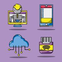 imposta la tecnologia patch dati informazioni vettore
