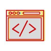 tecnologia di elemento del sito Web per cercare la pagina vettore