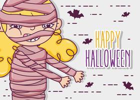 Happy cartoni animati di halloween vettore