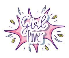 Cartoni animati carino potere ragazza vettore
