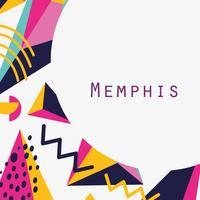 Modello e sfondo di Memphis vettore