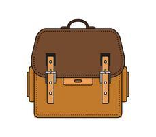 Icona del sacchetto di scuola su una priorità bassa bianca