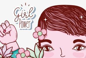 Cartoni animati di potenza ragazza vettore