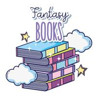 Libri di fantasia e magia vettore