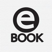 E-book icona simbolo segno
