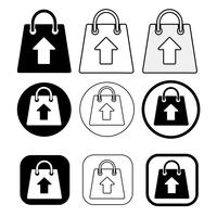 Icona del sacchetto di acquisto Segno del pacchetto di vendita