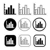 Semplice set di icone diagramma e grafico