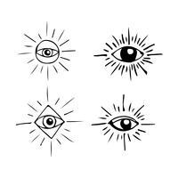 Occhio, simbolo, segno, segno vettore