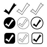 L'icona Tick semplice accetta il segno di approvazione vettore