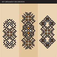 Lusso giapponese, calligrafico, linee eleganti ornamento azteco