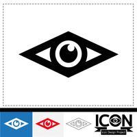 segno dell'icona simbolo dell'occhio vettore