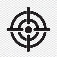 Segno di simbolo dell'icona di destinazione