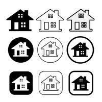 segno di simbolo di icona casa e casa semplice