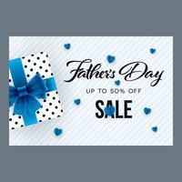 Bandiera orizzontale di vendita di giorno di padri
