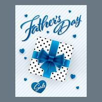 Bandiera verticale di vendita di giorno di padri