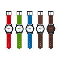 Collezione di orologi vettoriale