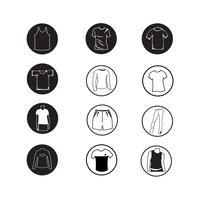 Set di icone di abbigliamento camicia e t-shirt icona abbigliamento vettore