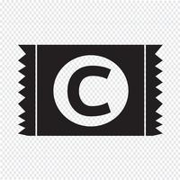 Segno di protezione dell'icona del pacchetto del preservativo